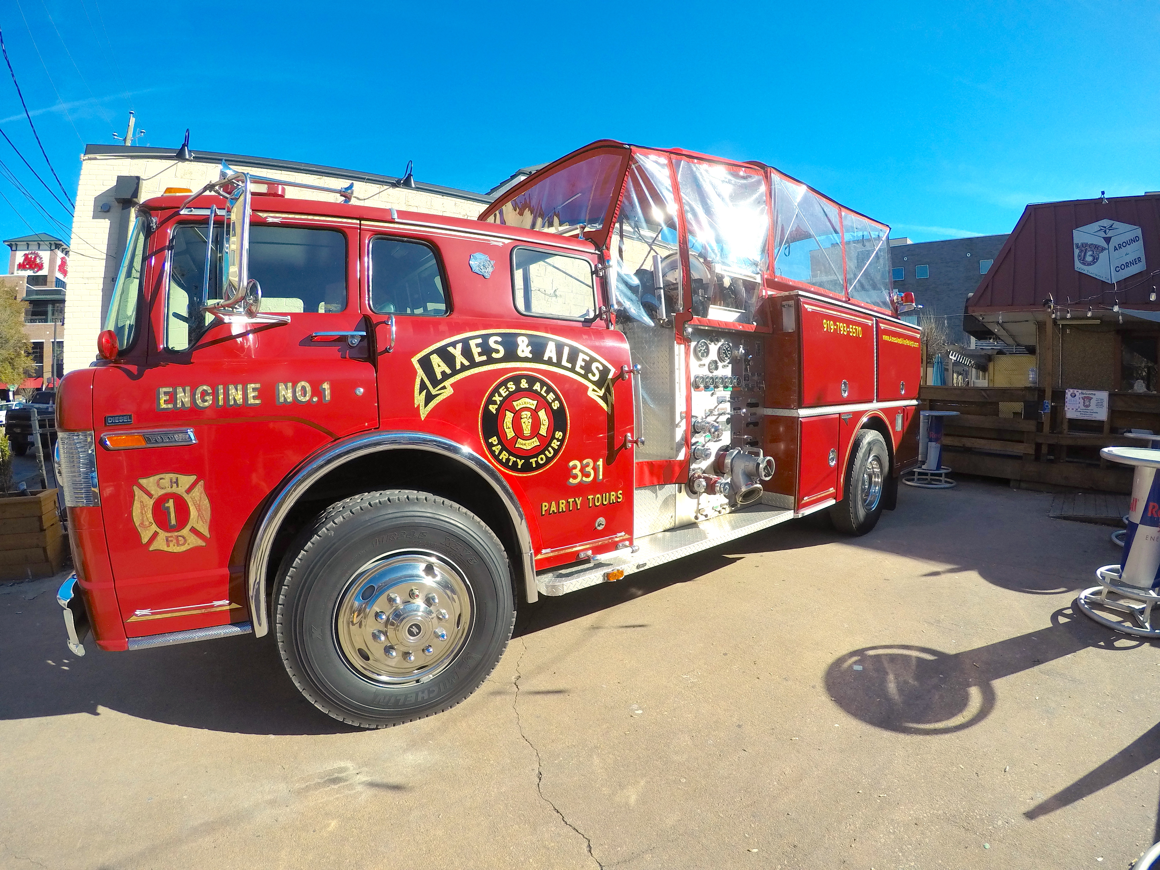 Axes Ales Raleigh Fire Engine Party Tours